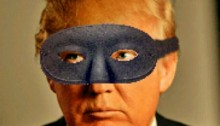 Trump in black mask.